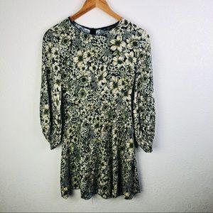 Zara Basic Floral Dress | Medium